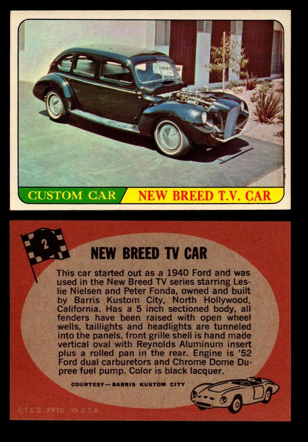 Hot Rods Topps - Vintage Trading Cards 1968 - Custom car - Dragster - Racer - Dream car - Barris Kustom City - Ed Roth Darrill Starbird, Gene Winfield, Bill Cuchenberry 2_989610