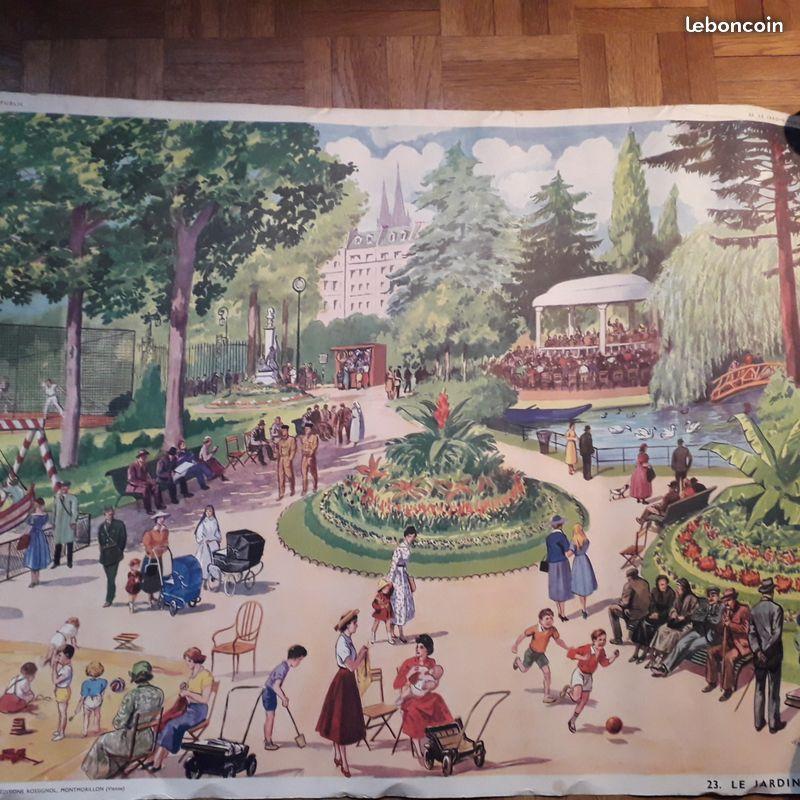 Affiches (tableaux)  pédagogiques Editions Rossignol 1946 - 1970s 2b857510