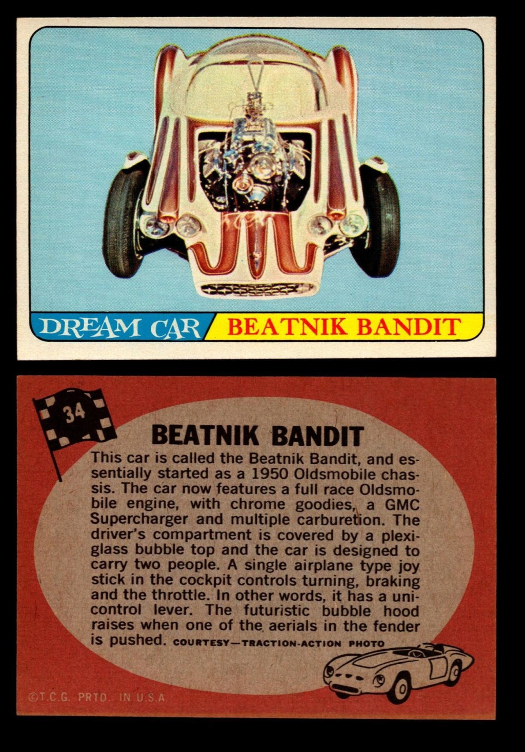 Hot Rods Topps - Vintage Trading Cards 1968 - Custom car - Dragster - Racer - Dream car - Barris Kustom City - Ed Roth Darrill Starbird, Gene Winfield, Bill Cuchenberry - Page 2 34_8fb10