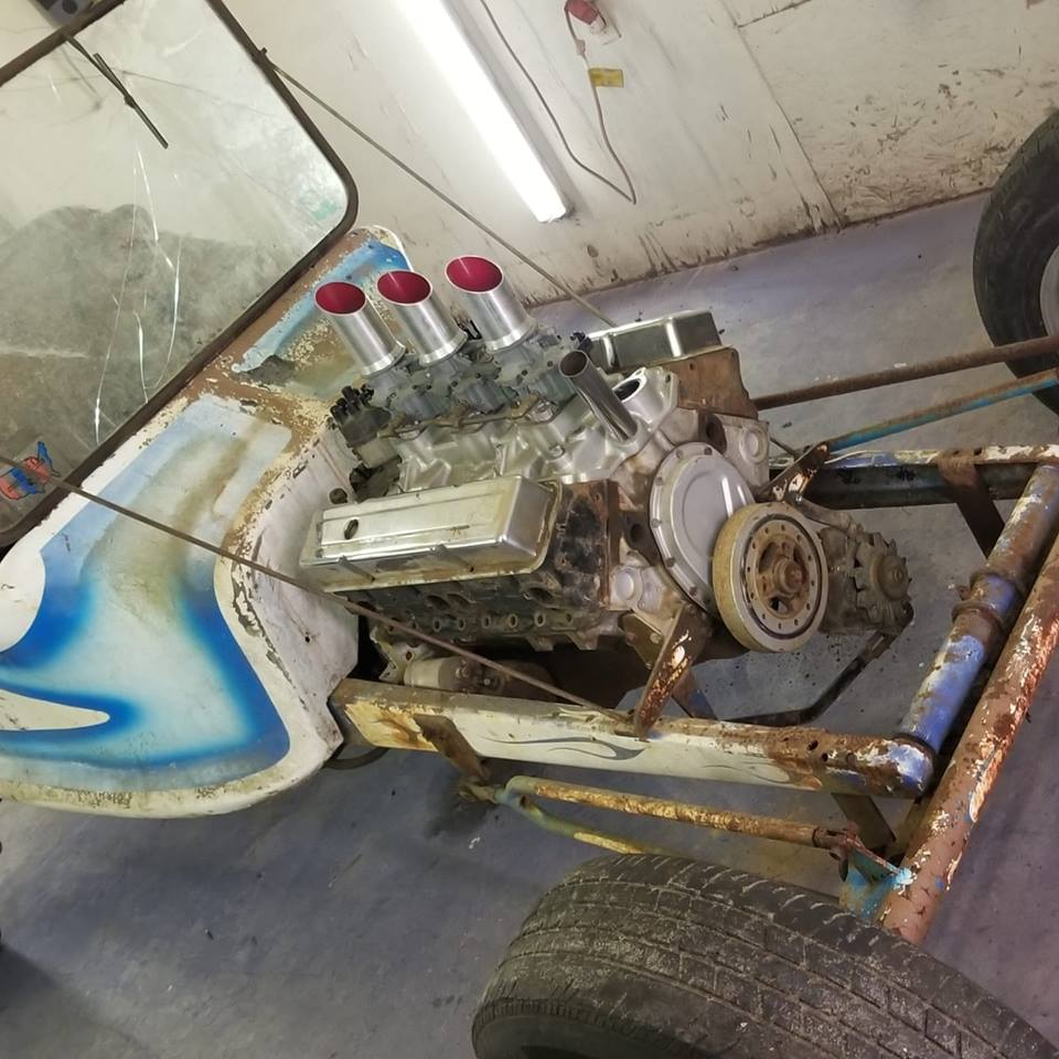 """Doug Young's Project - Suvivor """"T"""" Rod with original Ed Roth's Outlaw Body 36900410"""