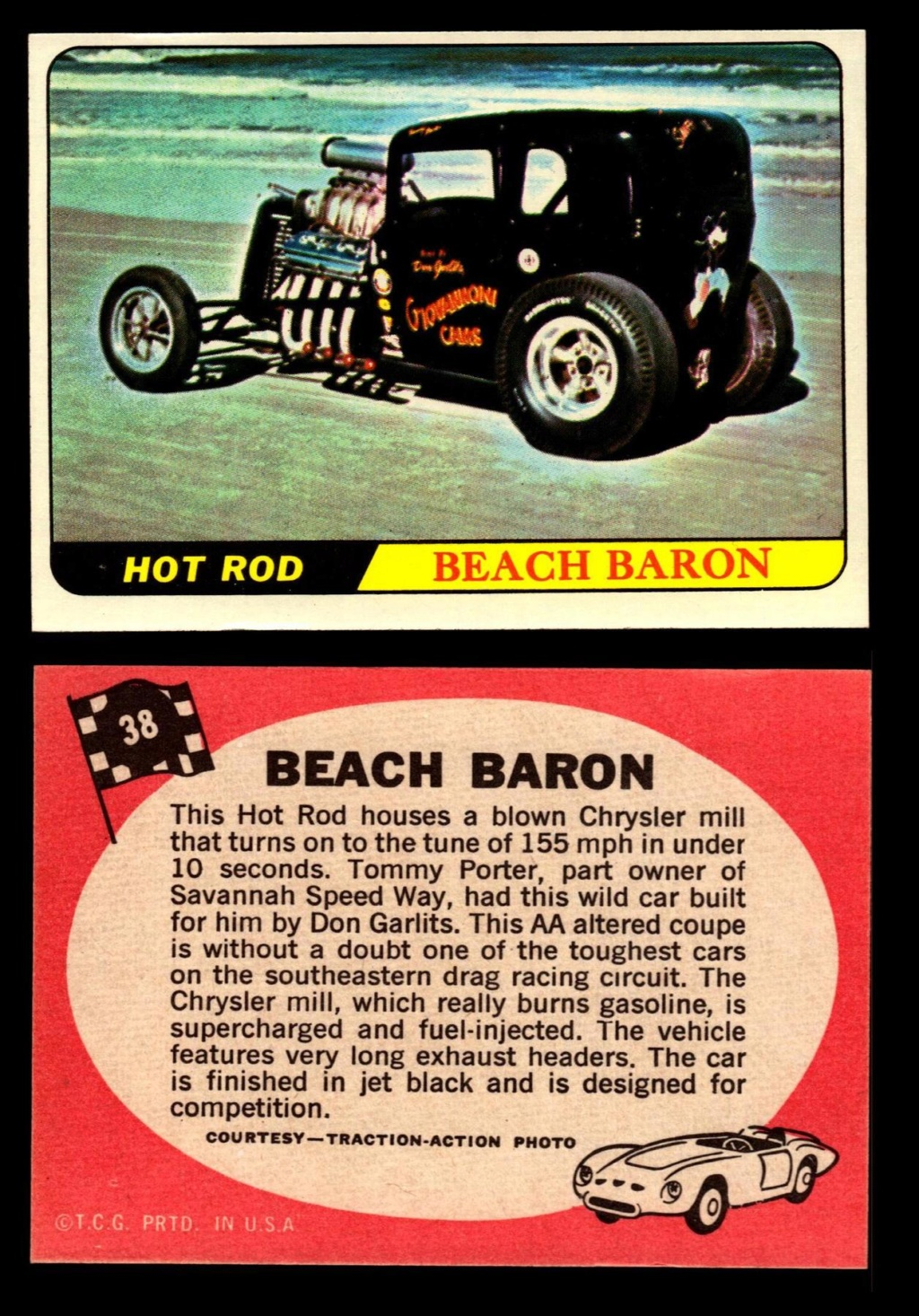 Hot Rods Topps - Vintage Trading Cards 1968 - Custom car - Dragster - Racer - Dream car - Barris Kustom City - Ed Roth Darrill Starbird, Gene Winfield, Bill Cuchenberry - Page 2 38_a0110