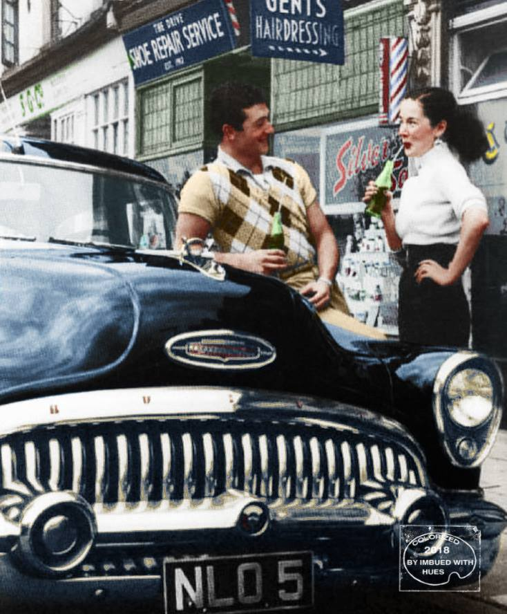 B & W Classic cars and vintage pics colorized by Imbued with hues 40633911