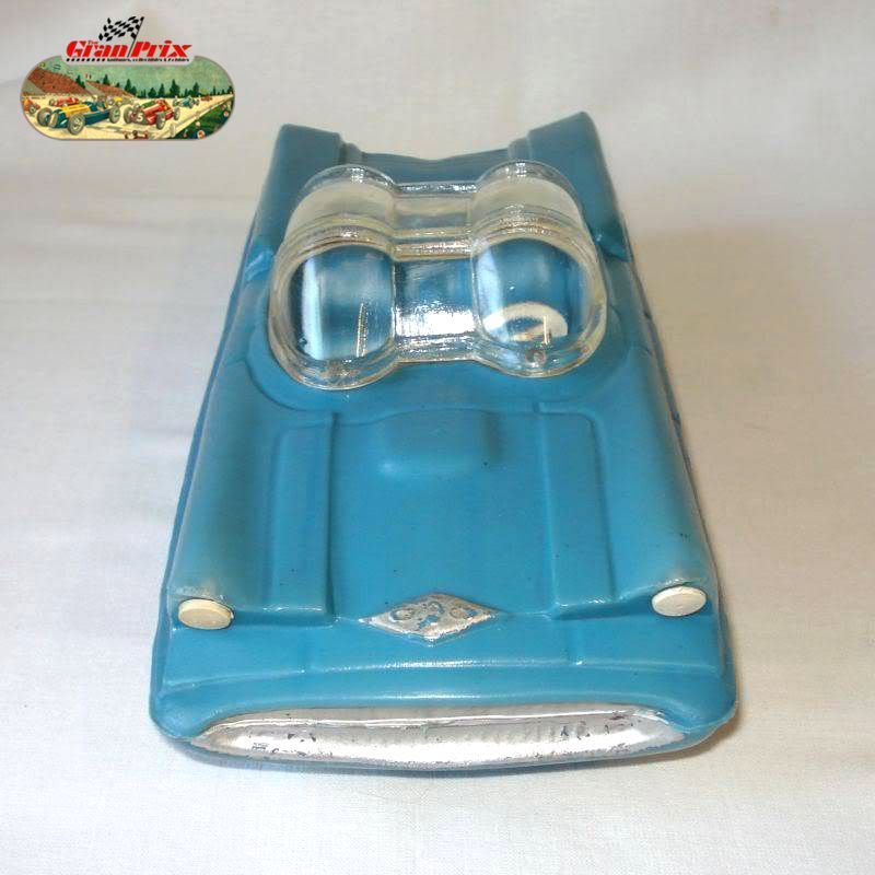 "1950's UNUSUAL LINCOLN FUTURA FUTURISTIC AUTOMOBILE PLASTIC TOY CAR  (LONG 11"")- MADE IN ARGENTINA BY 33C0 418"