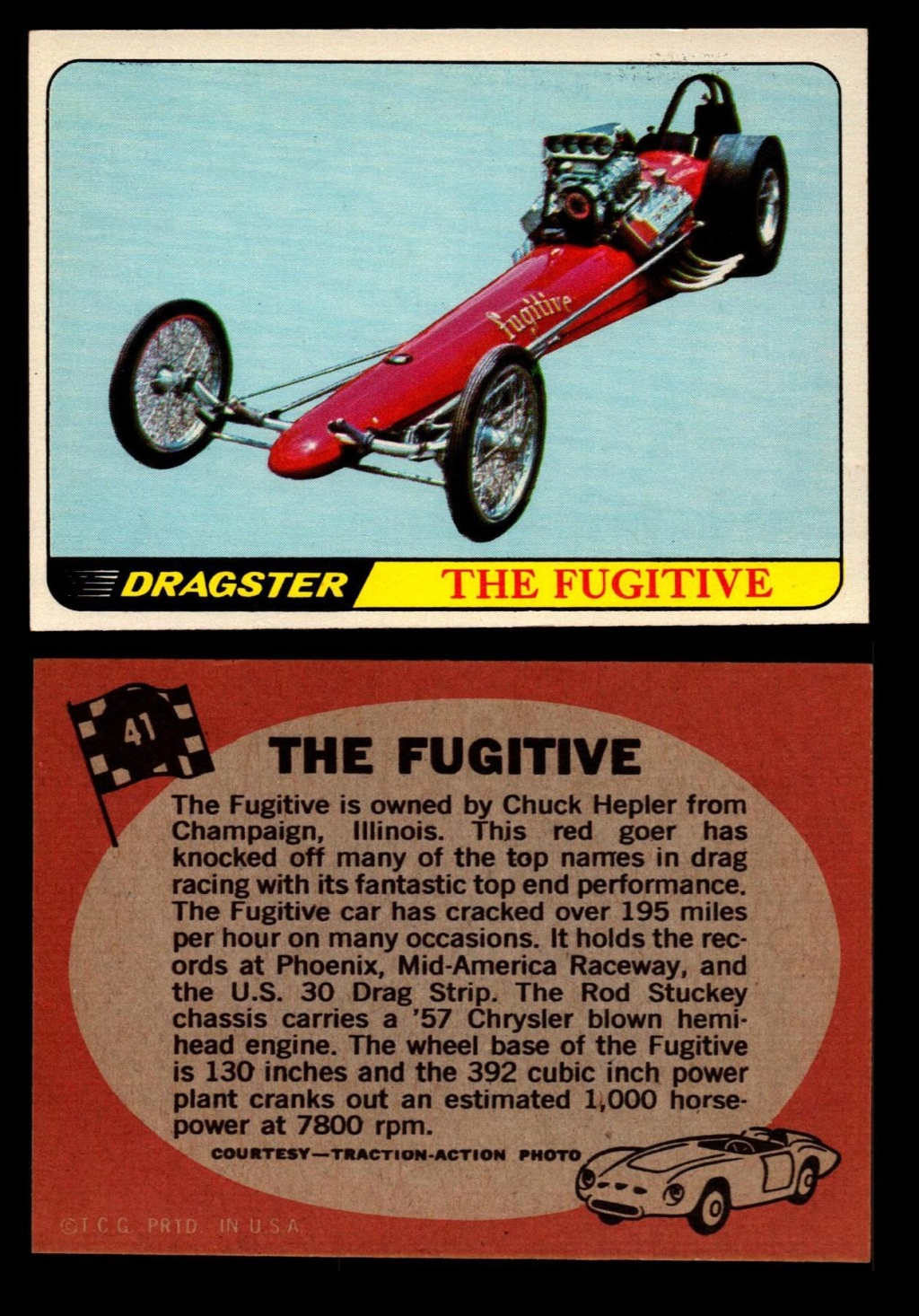 Hot Rods Topps - Vintage Trading Cards 1968 - Custom car - Dragster - Racer - Dream car - Barris Kustom City - Ed Roth Darrill Starbird, Gene Winfield, Bill Cuchenberry - Page 2 41_dc110