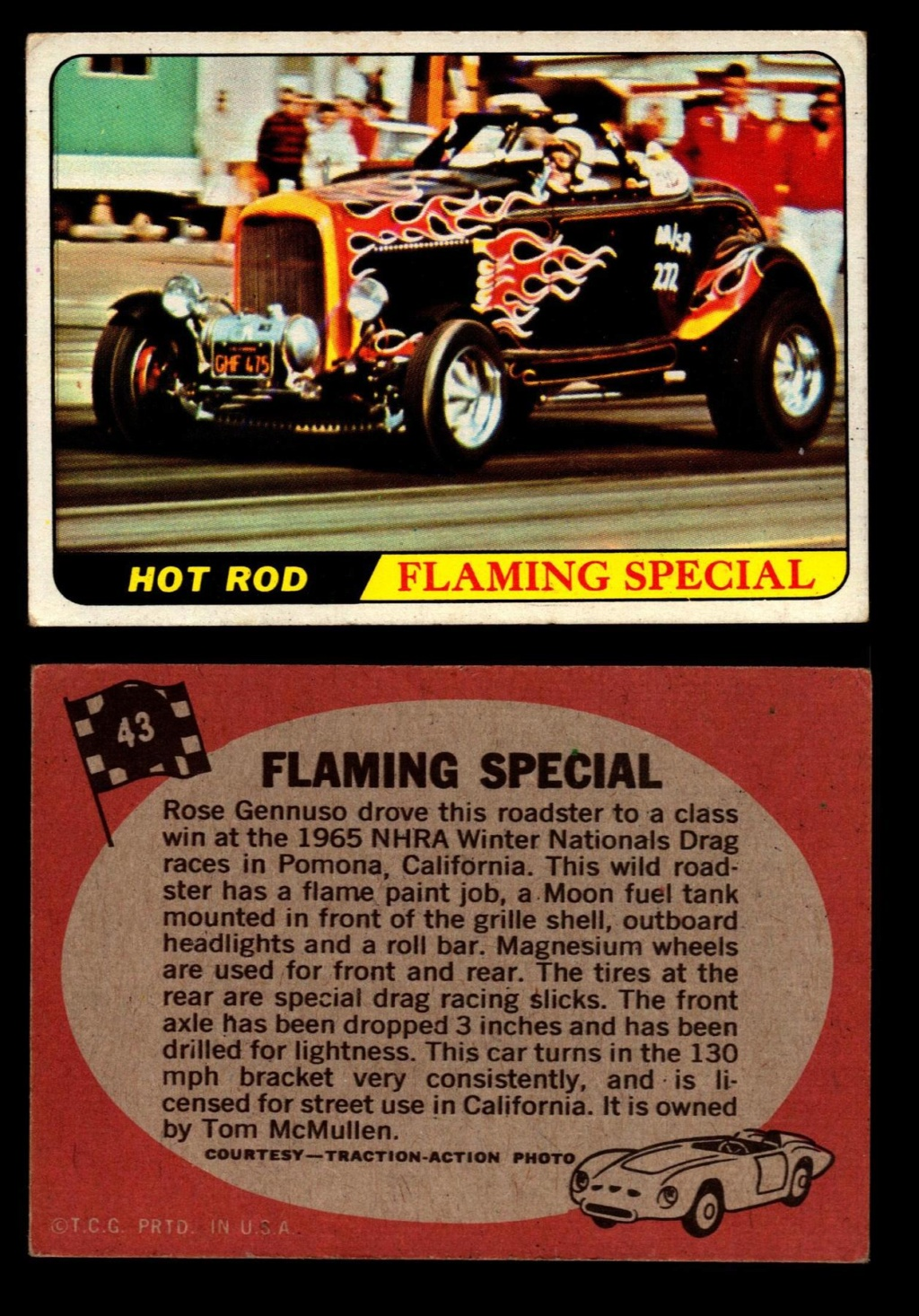 Hot Rods Topps - Vintage Trading Cards 1968 - Custom car - Dragster - Racer - Dream car - Barris Kustom City - Ed Roth Darrill Starbird, Gene Winfield, Bill Cuchenberry - Page 2 43_05e11