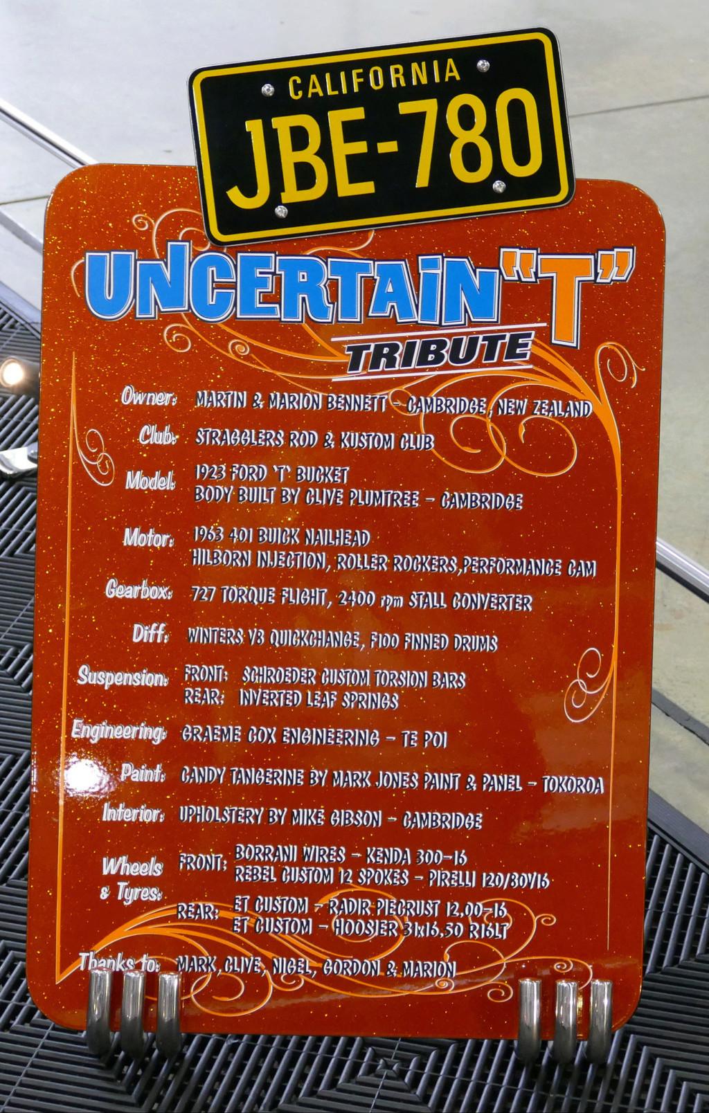 """Uncertain """" T""""  Tribute - Martin & Marion Bennett 49534113"""