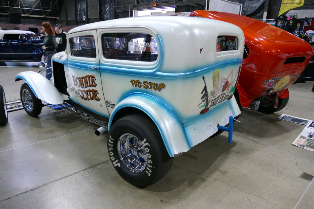 """The """"Bonnie and Clyde"""" 1932 Ford drag sedan, built in the late 50s 49669711"""