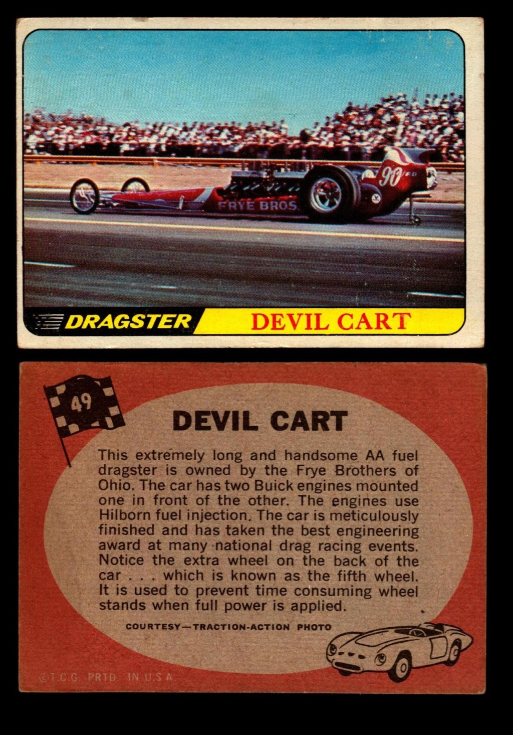 Hot Rods Topps - Vintage Trading Cards 1968 - Custom car - Dragster - Racer - Dream car - Barris Kustom City - Ed Roth Darrill Starbird, Gene Winfield, Bill Cuchenberry - Page 2 49_c1a10
