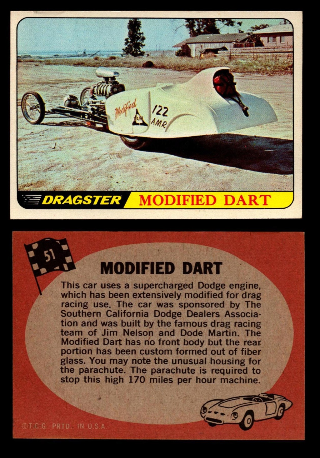 Hot Rods Topps - Vintage Trading Cards 1968 - Custom car - Dragster - Racer - Dream car - Barris Kustom City - Ed Roth Darrill Starbird, Gene Winfield, Bill Cuchenberry - Page 2 51_15510