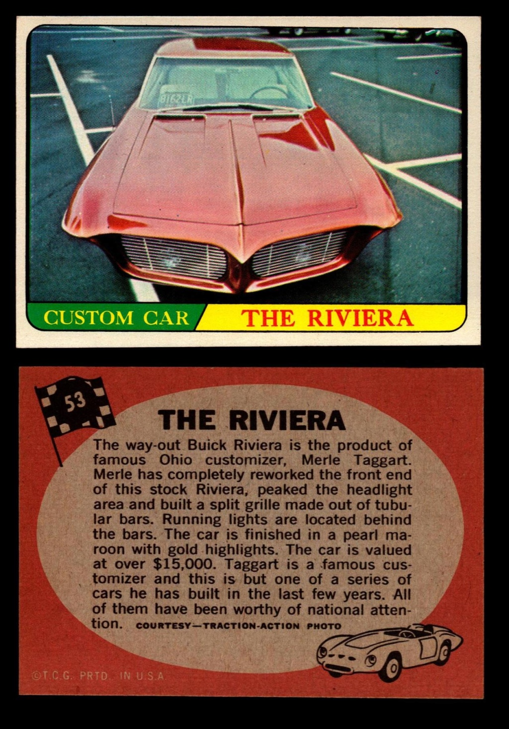 Hot Rods Topps - Vintage Trading Cards 1968 - Custom car - Dragster - Racer - Dream car - Barris Kustom City - Ed Roth Darrill Starbird, Gene Winfield, Bill Cuchenberry - Page 2 53_c4f10