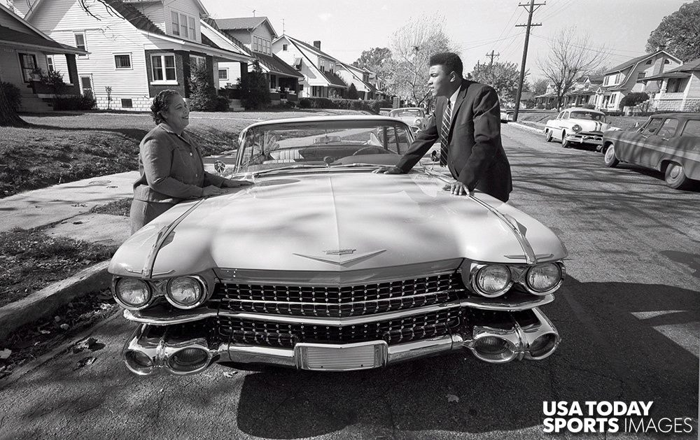 "Nov 1, 1960; Louisville, KY, USA - Mohamed Ali ""Cassius Clay"" & Cadillac 1959 "" A pink Cadillac for mom "" 54514610"
