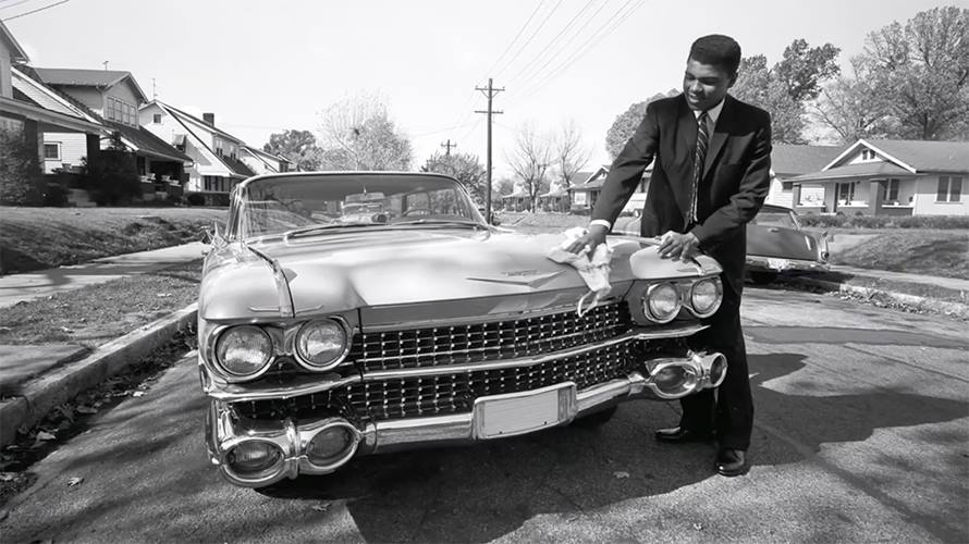 "Nov 1, 1960; Louisville, KY, USA - Mohamed Ali ""Cassius Clay"" & Cadillac 1959 "" A pink Cadillac for mom "" 55635110"