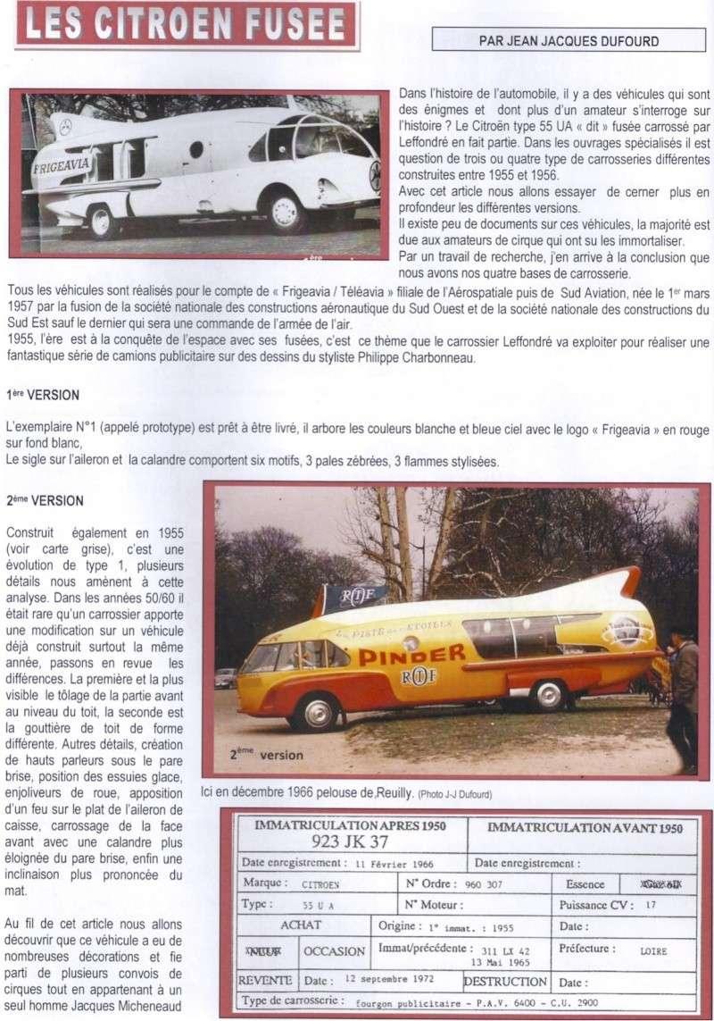 """Citroën Type 55 - Charbonneaux / LEFFONDRE"""" 1955/56 - Camion fusée frigeavia Teleavia - Cirque Pinder 55_fus10"""