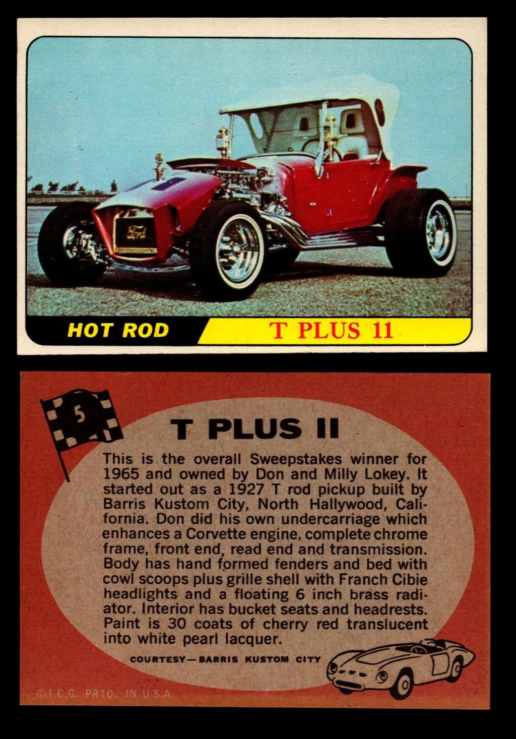 Hot Rods Topps - Vintage Trading Cards 1968 - Custom car - Dragster - Racer - Dream car - Barris Kustom City - Ed Roth Darrill Starbird, Gene Winfield, Bill Cuchenberry 5_b1d210