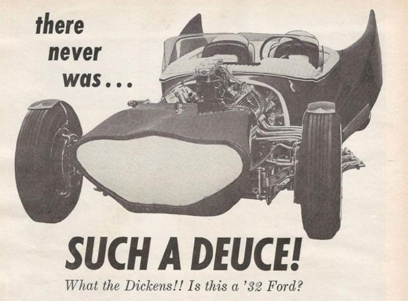 John Burnes, The Manta Ray - 32 Ford radical show rod Bat - Toronto, Ont. Car Craft, Jul 1963 5bat10