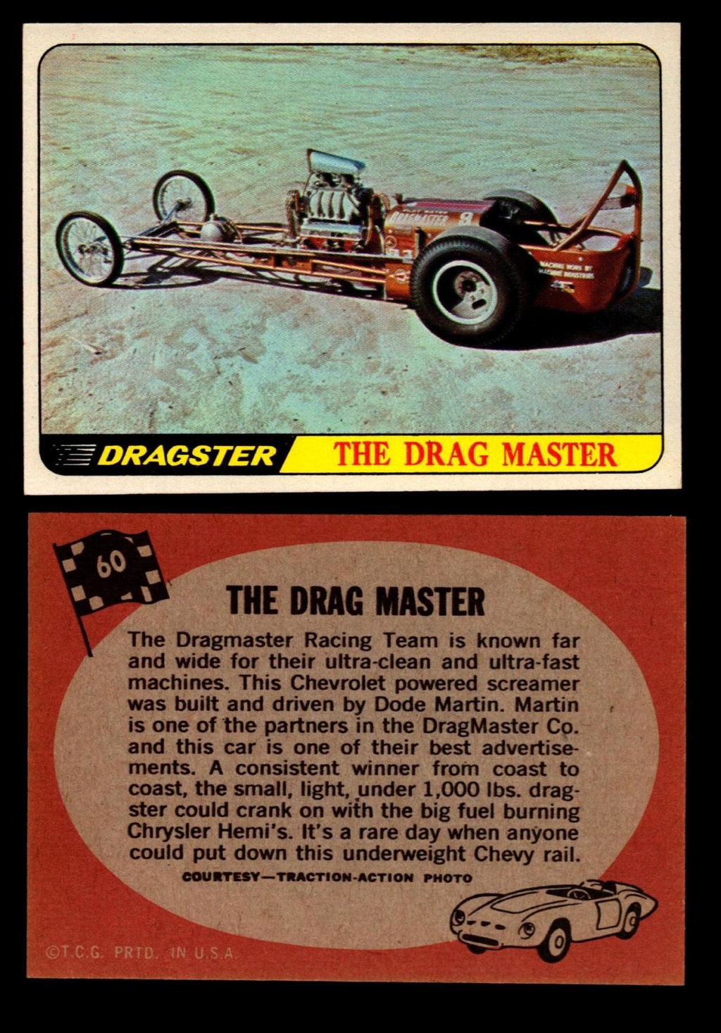 Hot Rods Topps - Vintage Trading Cards 1968 - Custom car - Dragster - Racer - Dream car - Barris Kustom City - Ed Roth Darrill Starbird, Gene Winfield, Bill Cuchenberry - Page 3 60_32610