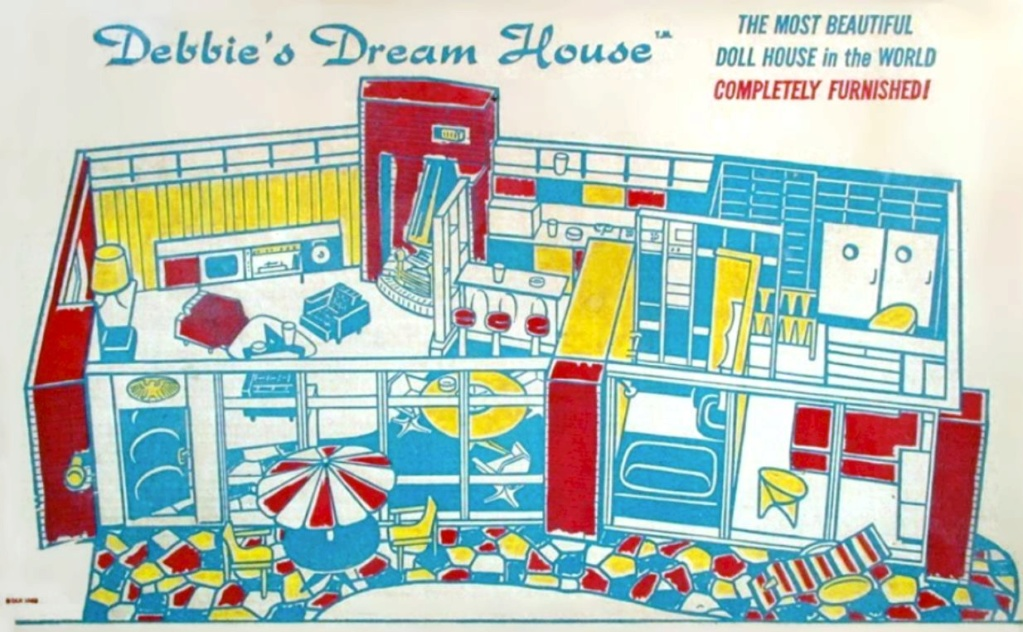 Debbie's Dream House - plastic mid-century mod showplace from Marx Toys - 1963 64369410