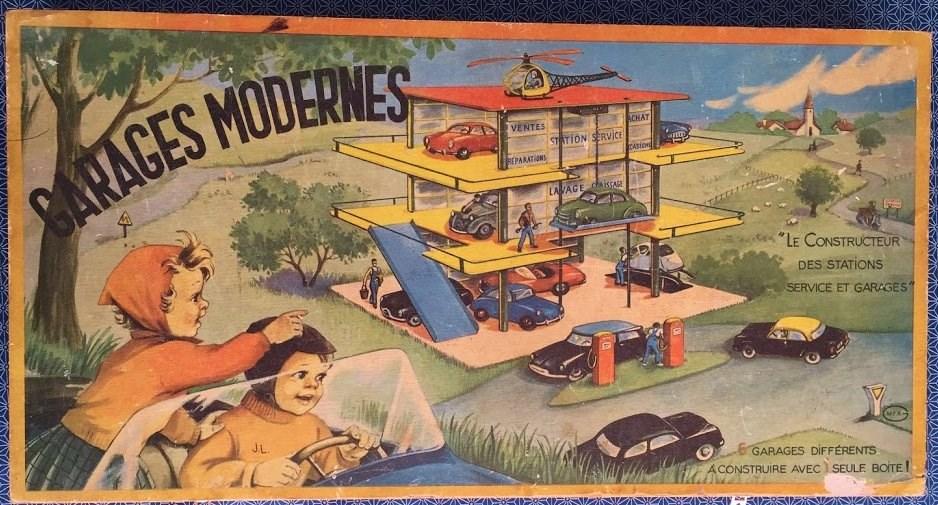 Garage Moderne : Jeu de construction années 50 - pour plusieurs modèles de garage 65294211