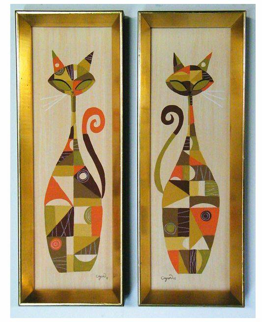 Déco murale 1950's & 1960's - Mid century modern Wall's decoration 66128110