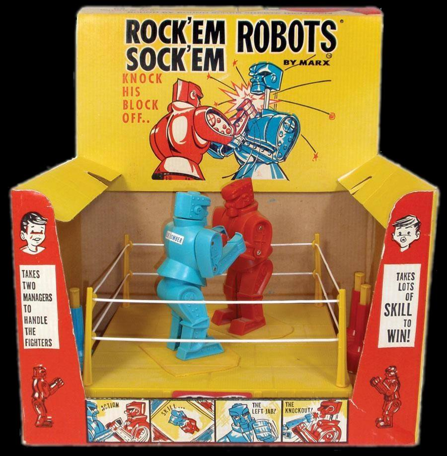 Rock 'Em Sock 'Em Robots from Marx (1966) 66152510