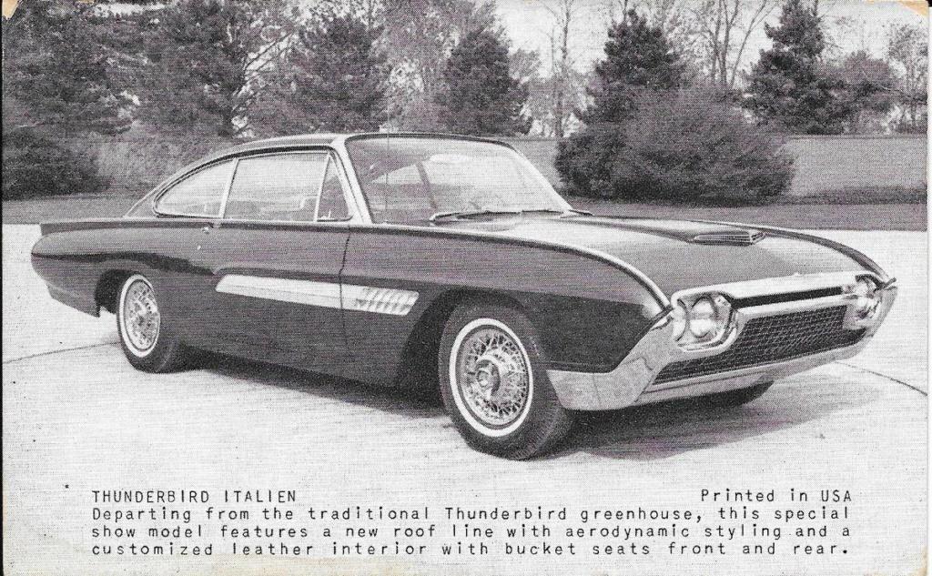 1963 Ford Thunderbird Italien Fastback Concept Car 66523910