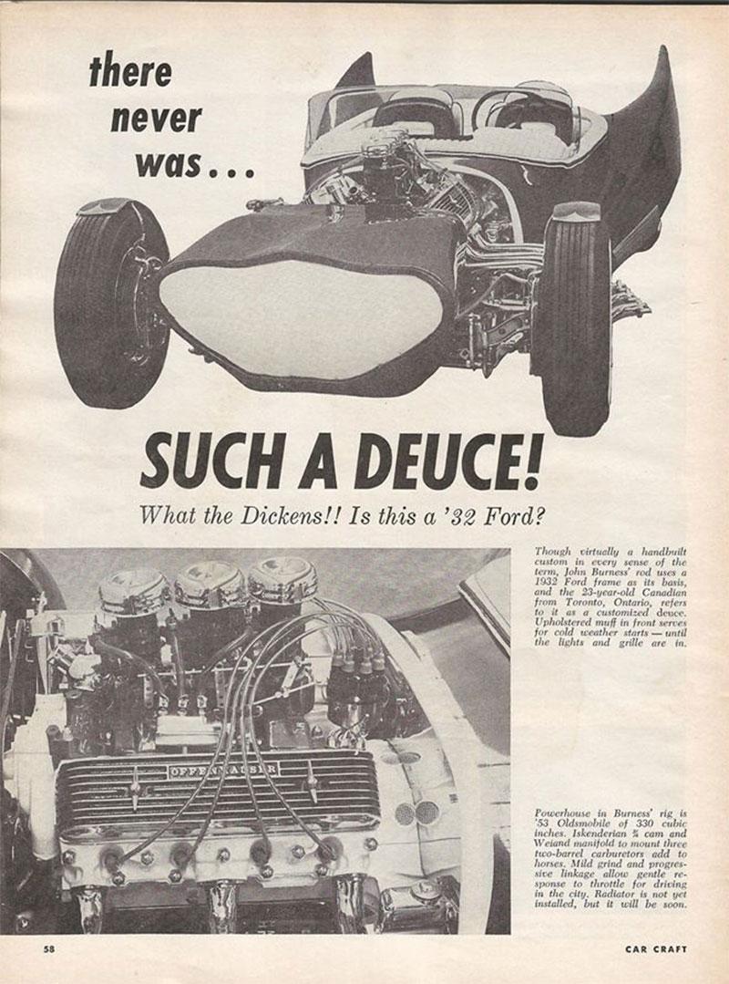 John Burnes, The Manta Ray - 32 Ford radical show rod Bat - Toronto, Ont. Car Craft, Jul 1963 67bat10