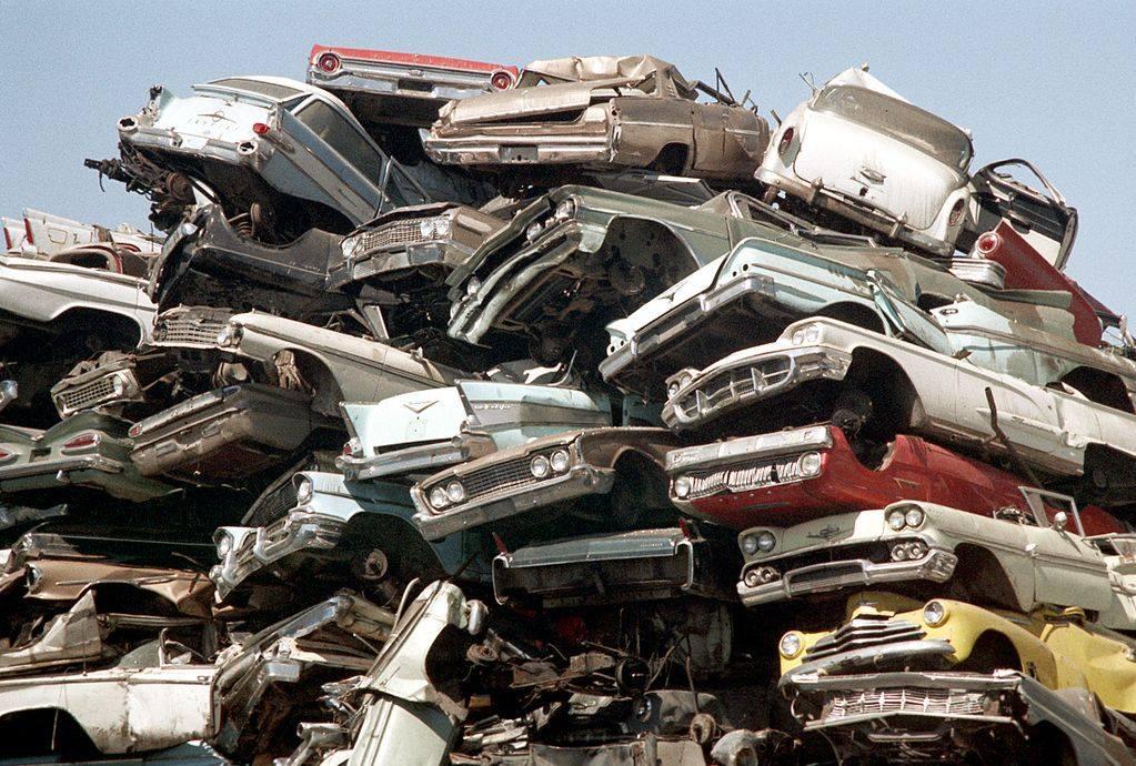 Los Angeles scrap yard 1972 - Cimetière de voitures (casse auto) à Los Angeles plein de voiture américaines 50s et début 60s 71094310