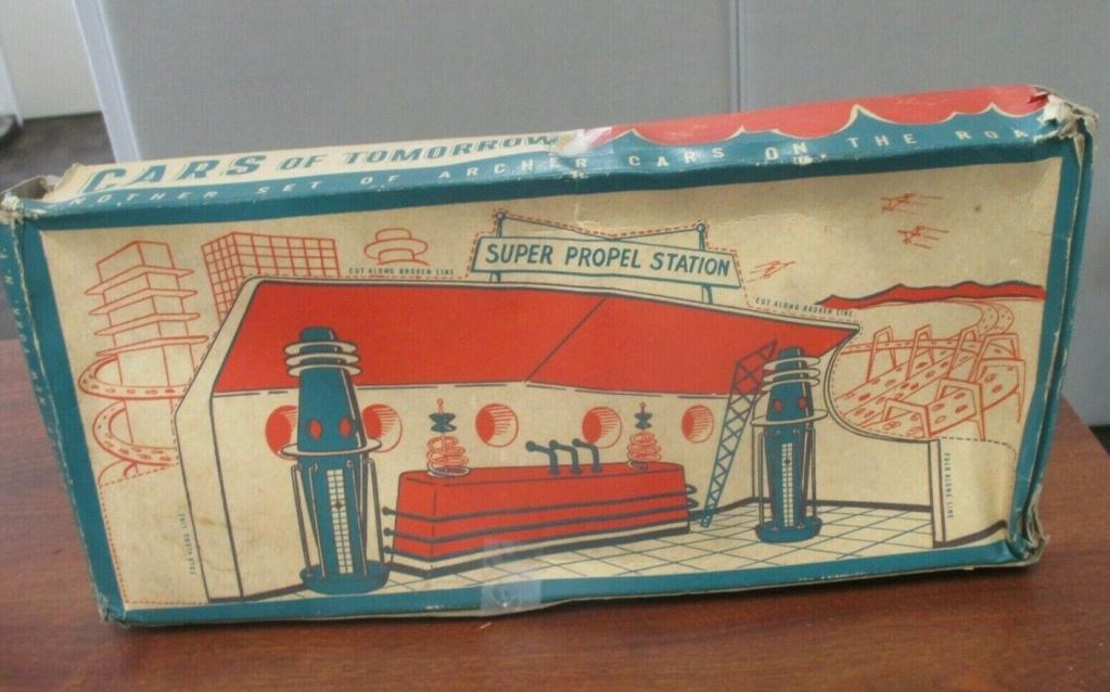 Cars of tomorrow -  plastic futuristic car - early 1950s - archer 834