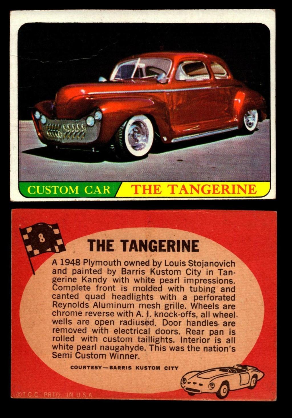 Hot Rods Topps - Vintage Trading Cards 1968 - Custom car - Dragster - Racer - Dream car - Barris Kustom City - Ed Roth Darrill Starbird, Gene Winfield, Bill Cuchenberry 8_43d310