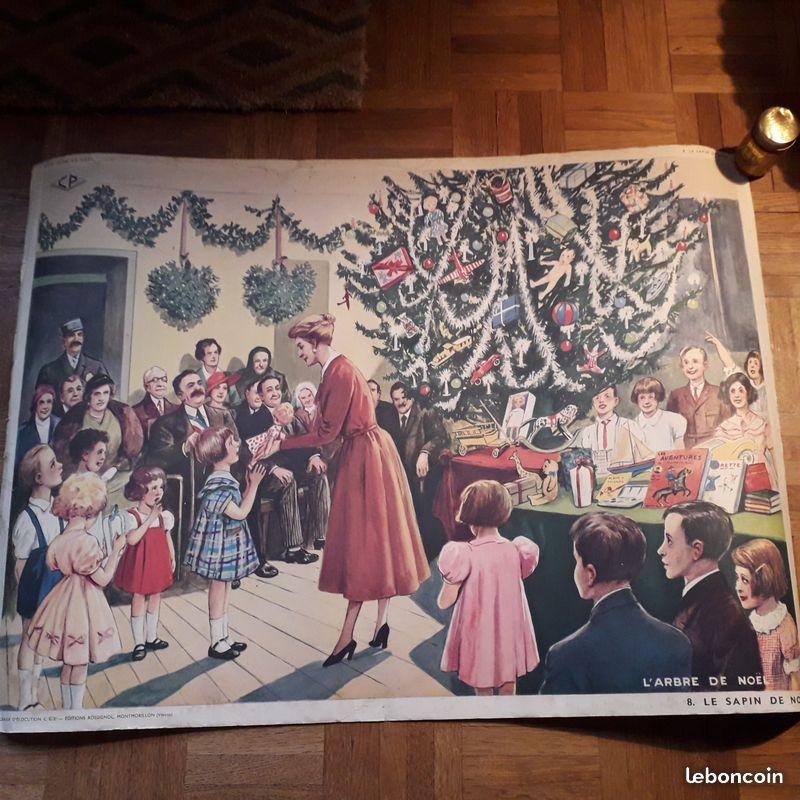 Affiches (tableaux)  pédagogiques Editions Rossignol 1946 - 1970s 8c169a10