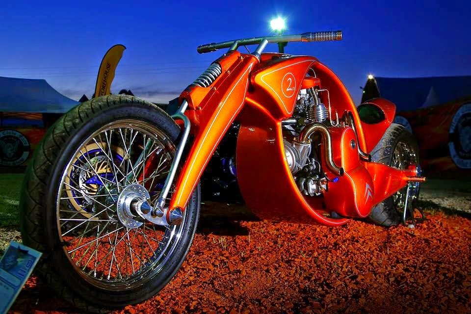 Derbidson - Custom bike avec moteur 2CV citroën 90767910