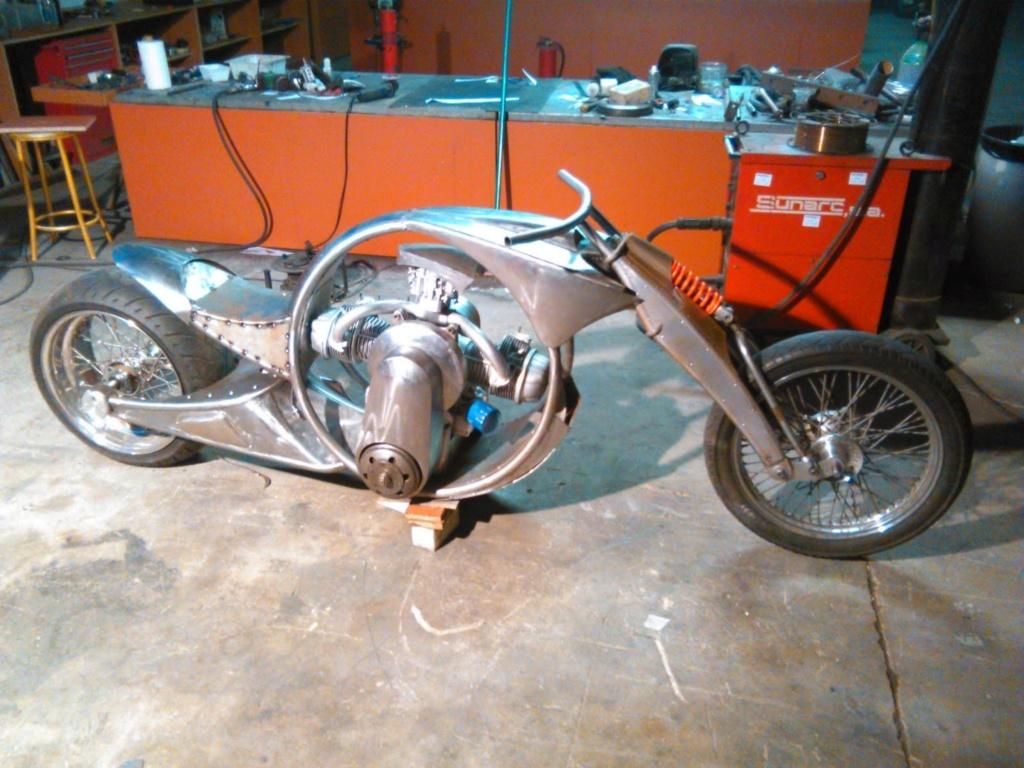 Derbidson - Custom bike avec moteur 2CV citroën 90782610