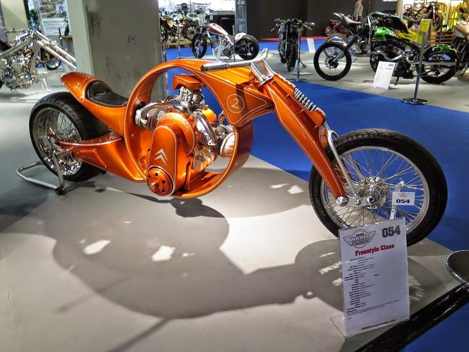 Derbidson - Custom bike avec moteur 2CV citroën 90959210