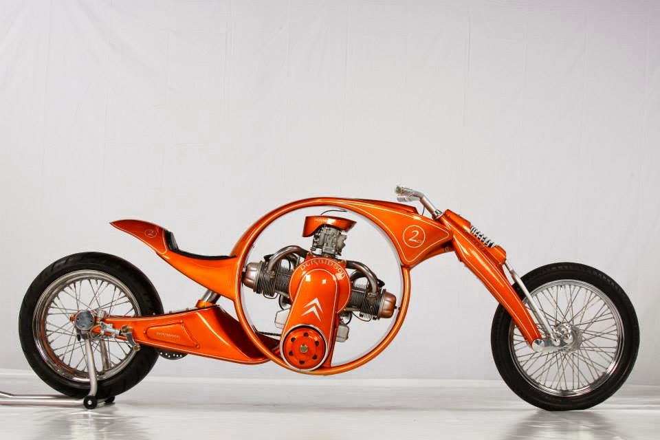 Derbidson - Custom bike avec moteur 2CV citroën 90963010