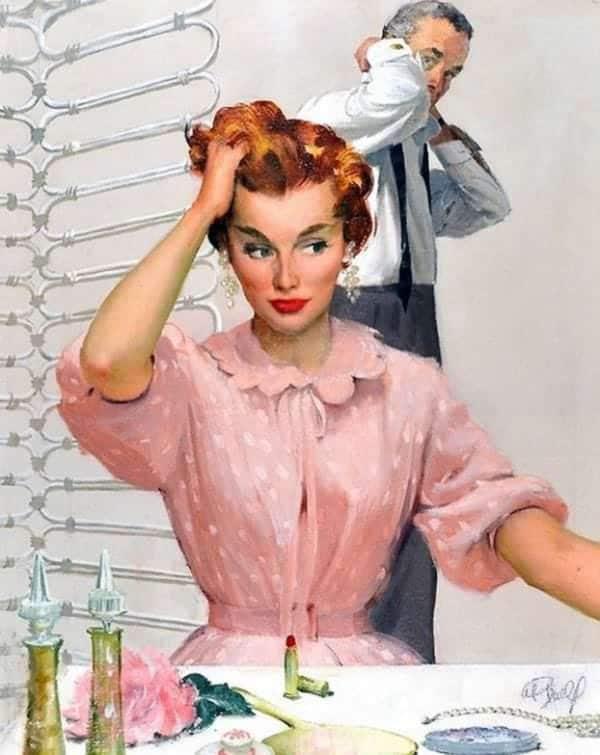 """Mai 1955, Housekeeping Monthly a publié un article intitulé """"Le Guide De La Bonne Épouse"""" 91110"""