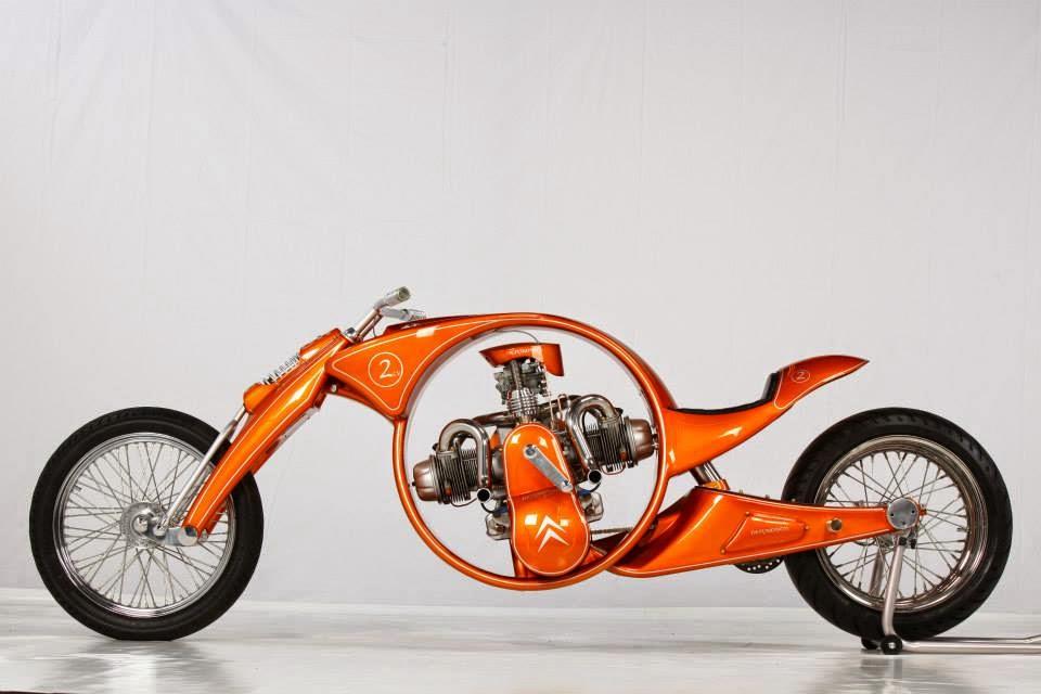 Derbidson - Custom bike avec moteur 2CV citroën 91288110