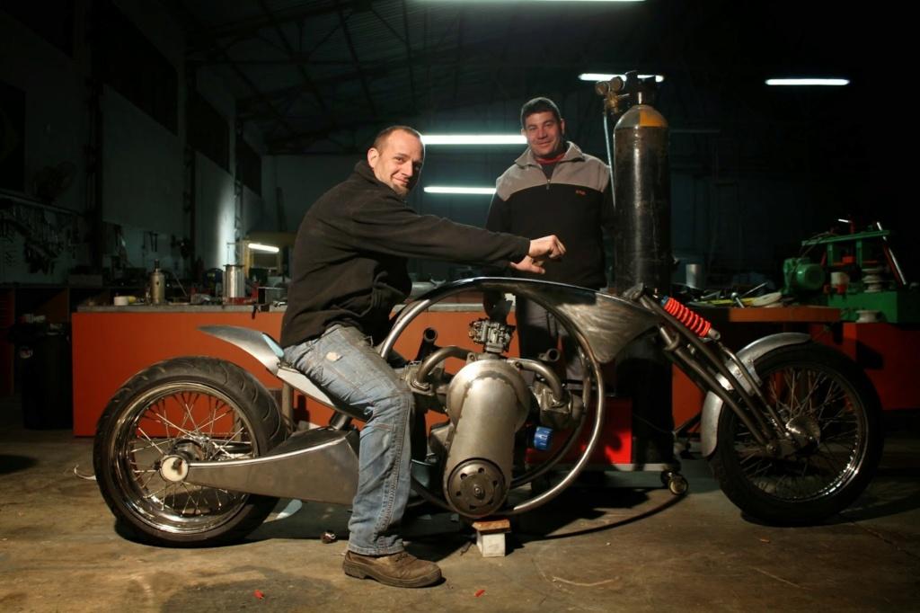 Derbidson - Custom bike avec moteur 2CV citroën 91413010