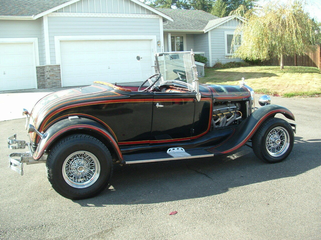 1929 Ford Model A Roadster - built in 1967, murals painted in 1976 - june 1976 rod action A311