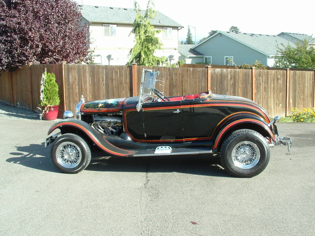 1929 Ford Model A Roadster - built in 1967, murals painted in 1976 - june 1976 rod action A411