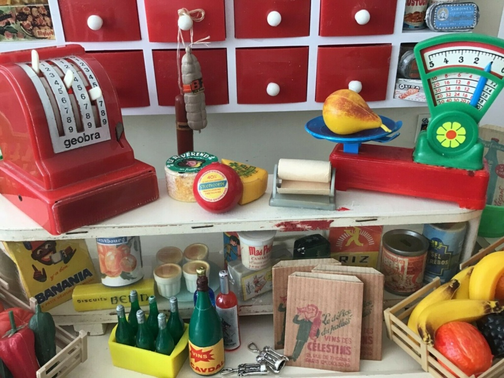 Epicerie jouet années 50 - Grocery toys vintage Alim210