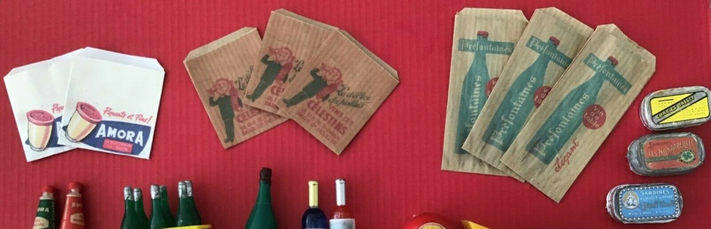 Epicerie jouet années 50 - Grocery toys vintage Alim610
