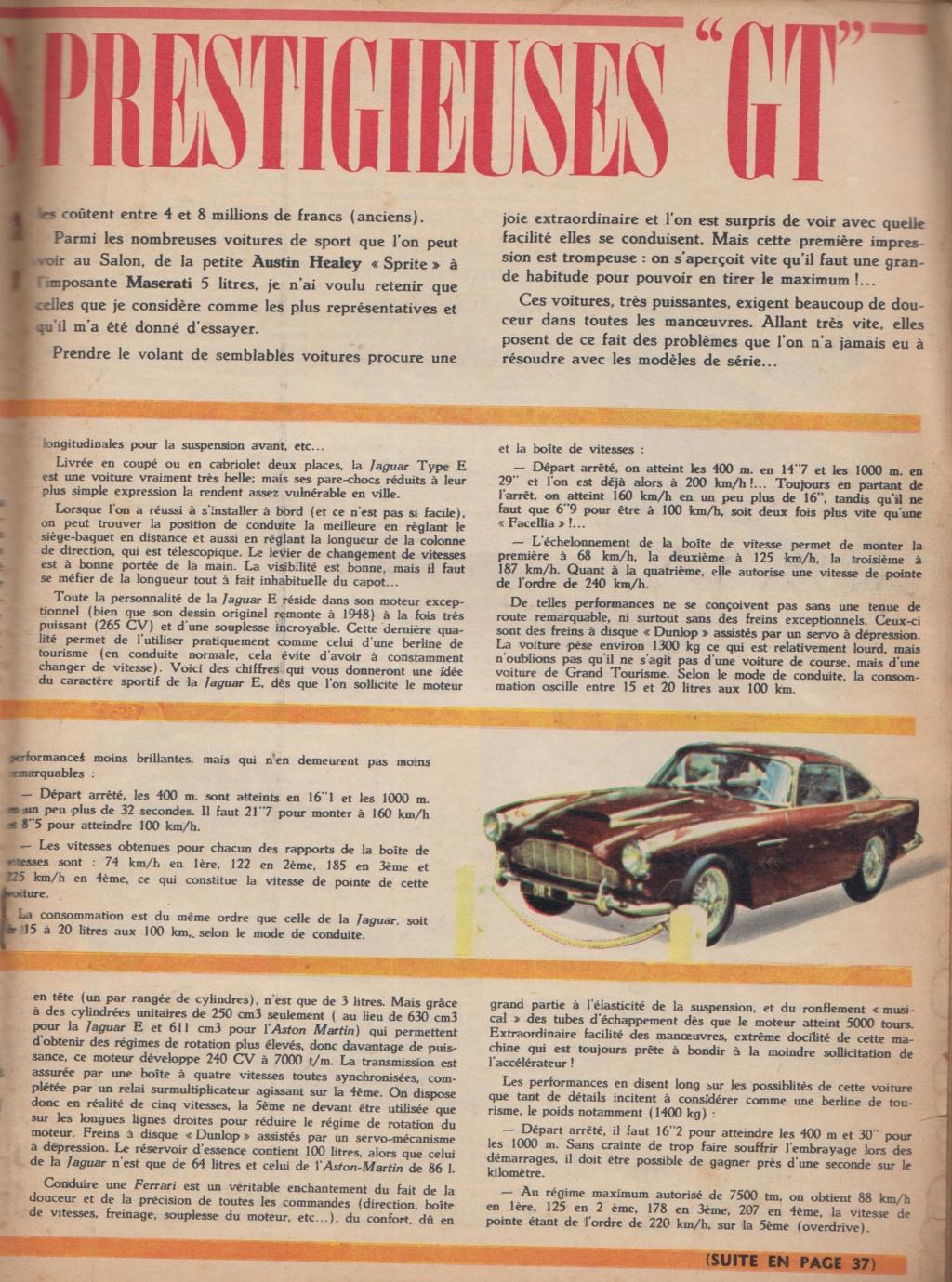 Le Journal de Tintin - de 1959 à 1964 les articles sur l'automobile et la moto Articl11