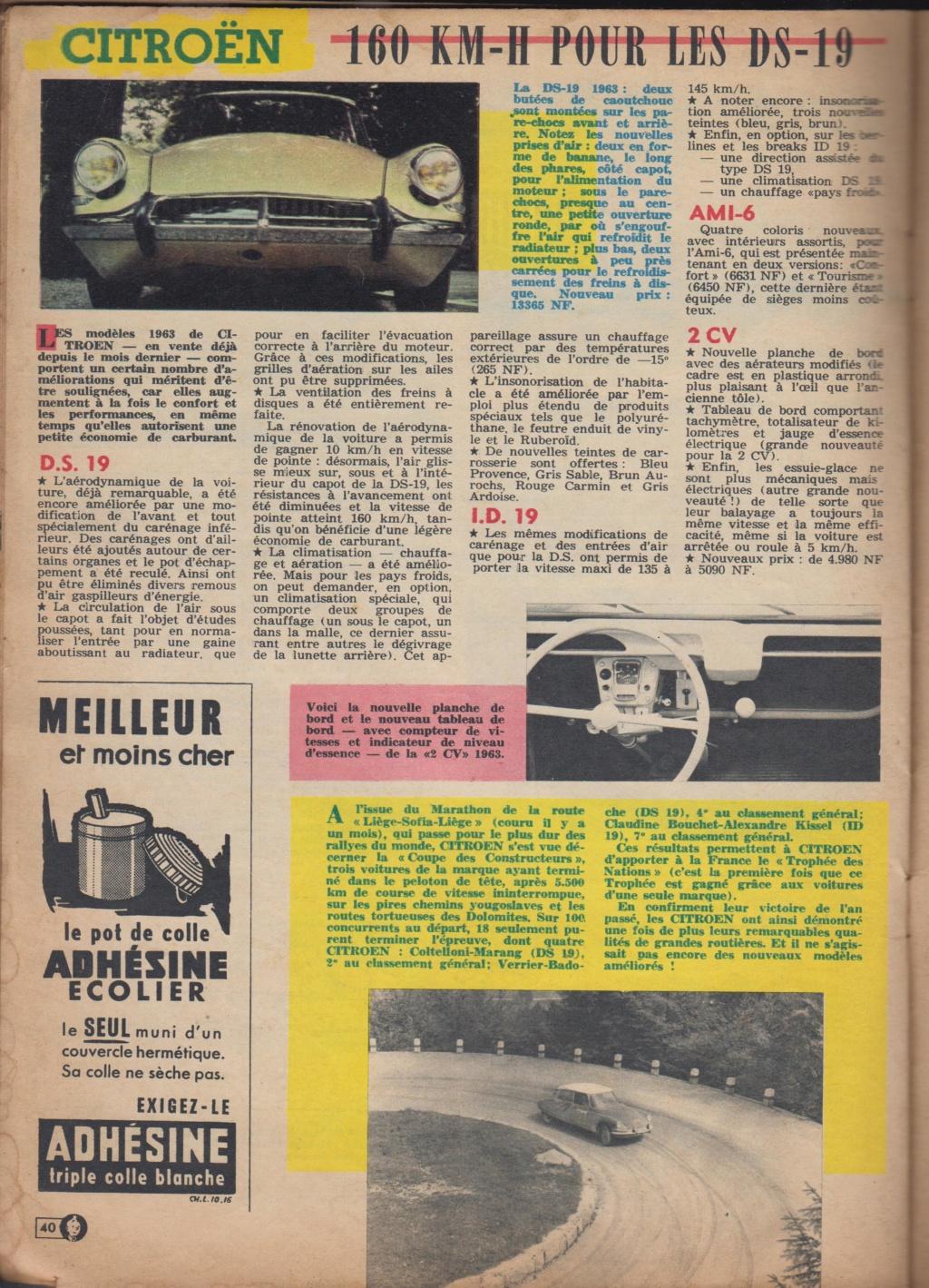 Le Journal de Tintin - de 1959 à 1964 les articles sur l'automobile et la moto Articl15