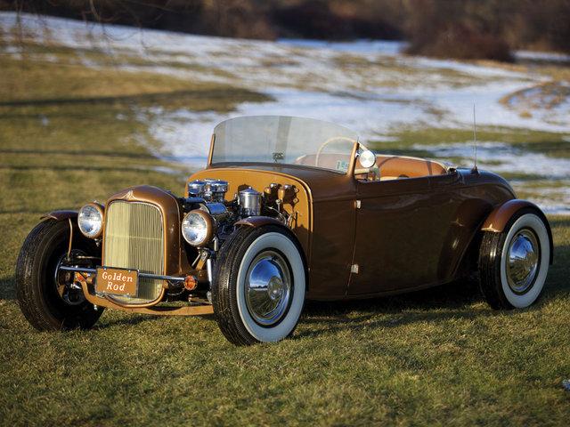 1932 Ford Roadster - The Golden Rod - Jack Fentz - built in 1955 Biga210