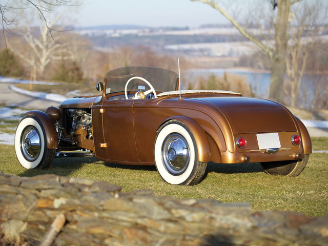 1932 Ford Roadster - The Golden Rod - Jack Fentz - built in 1955 Bigb210