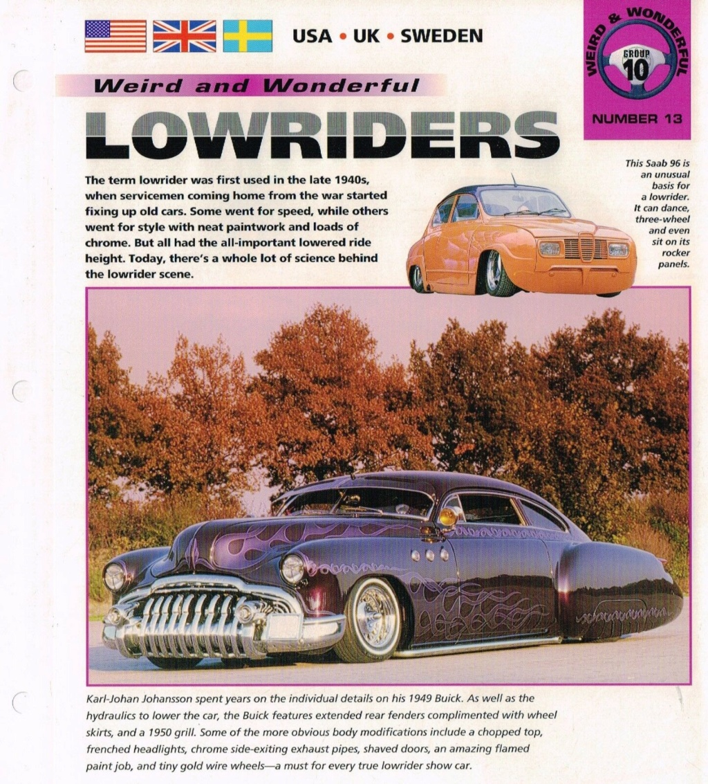 Lowrider/Lead Sled brochures - International Masters Publishers Broch112