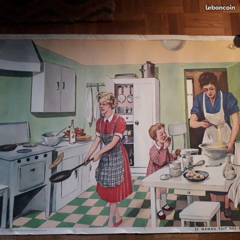 Affiches (tableaux)  pédagogiques Editions Rossignol 1946 - 1970s Cb152610