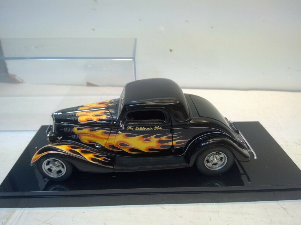 1934 FORD 3 WINDOW COUPE CALIFORNIA KID 1:24 SCALE DIECAST HOT ROD - Danbury Mint Ck10
