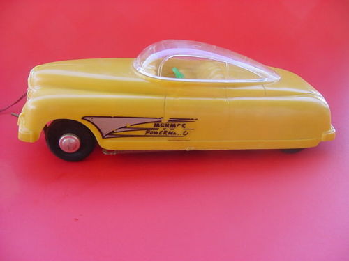 Mormac powermatic Space Car, Battery Op , 1950' remote control Cn210