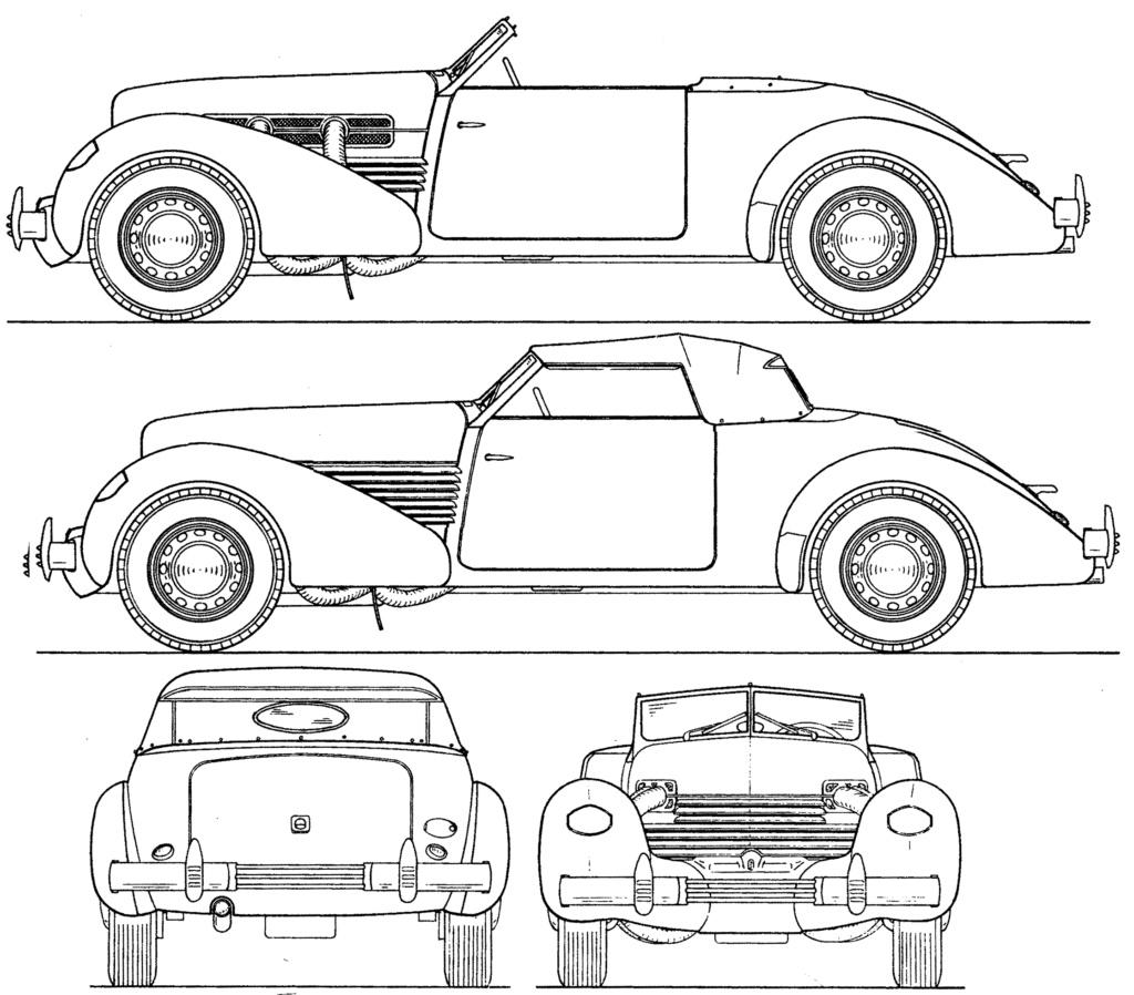 Dessin  automobiles classiques - Page 2 Cord-810